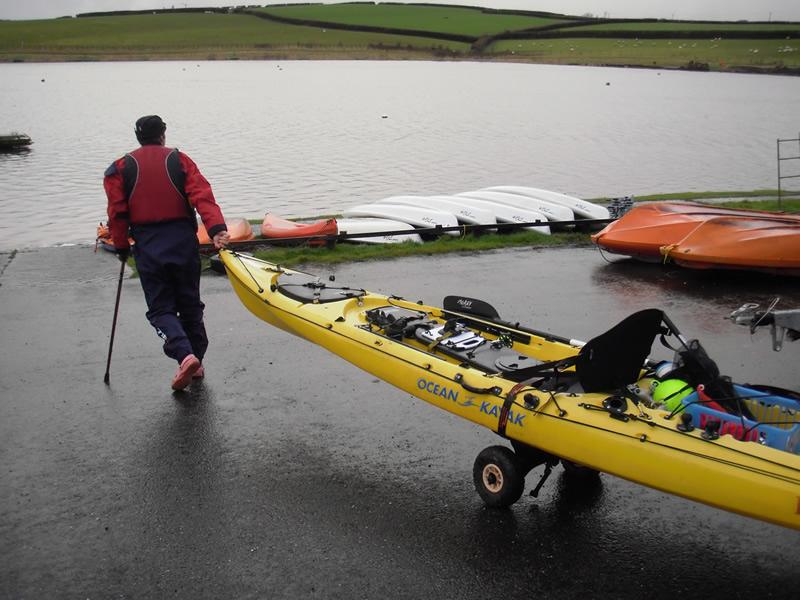 Now Martin rigs and takes his own kayak to the slip
